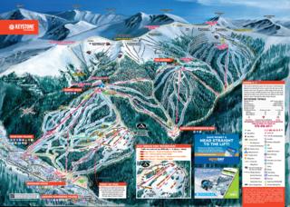 Keystone trail map
