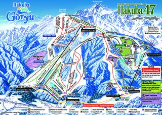 Hakuba 47 & Goryu trail map