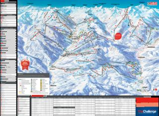 Saalbach Hinterglemm trail map