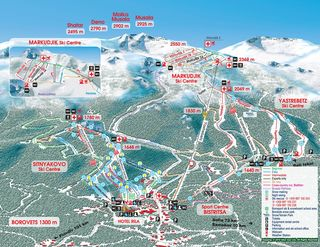 Borovets map