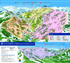 Squaw Valley - Alpine Meadows trail map