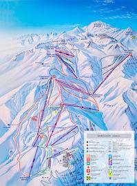 Valle Nevado map