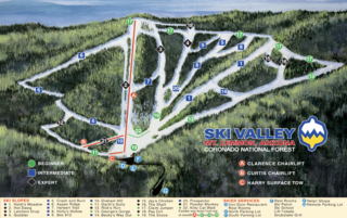 Mount Lemmon Ski Valley map