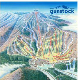 Gunstock Mountain Resort map