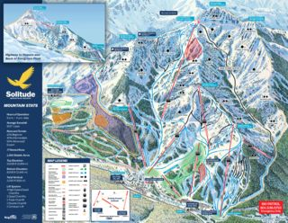 Solitude Mountain Resort trail map